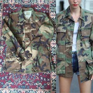 60s Army Camouflage Oversized Utility Jacket